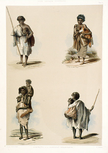 Aboriginal inhabitants by George French Angas