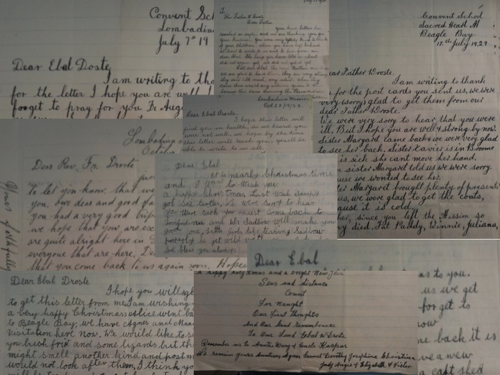 Collage of Letters to Fr Droste
